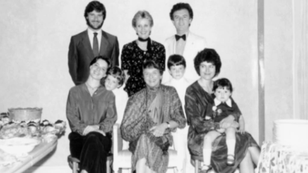 Ingrid Bergmanová (nahoře uprostřed) na posledním rodinném snímku
