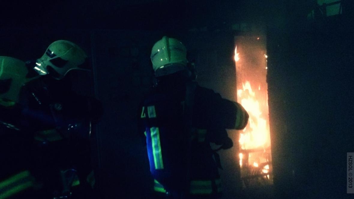 Požár v železárně