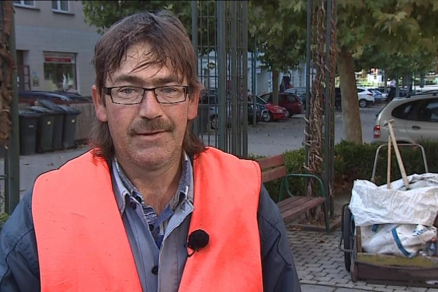Nezaměstnaný Vlastimil Závodský je rád, že má práci
