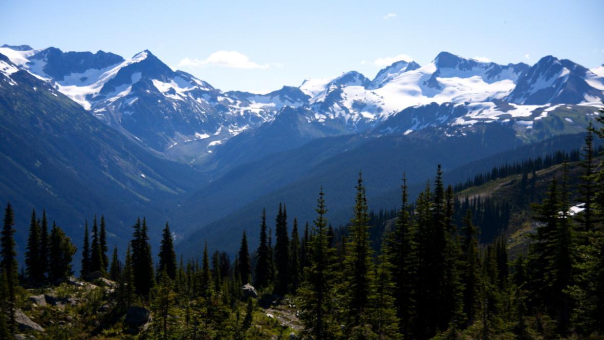 Hory v okolí Whistleru