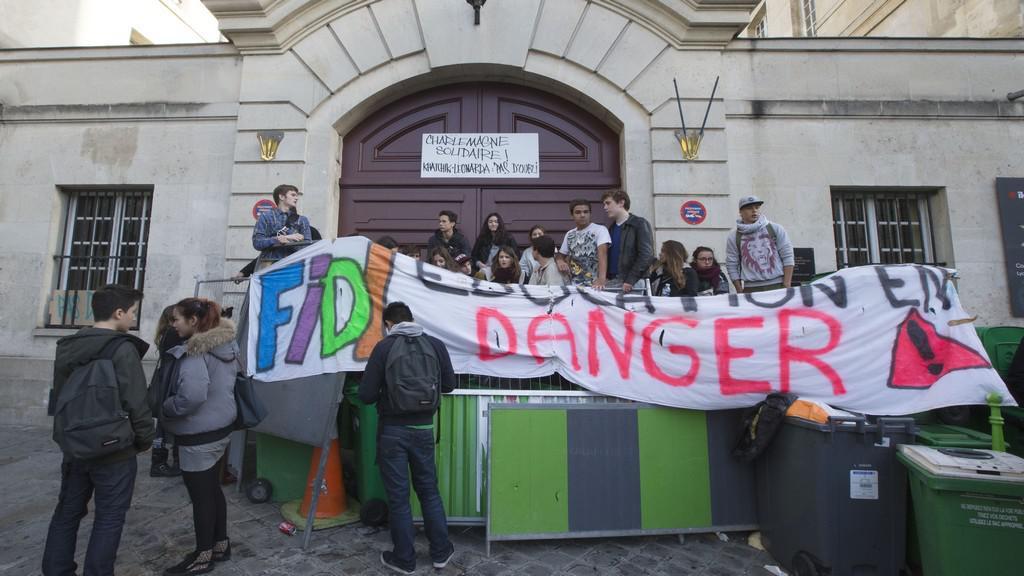 Protest proti francouzské imigrační politice