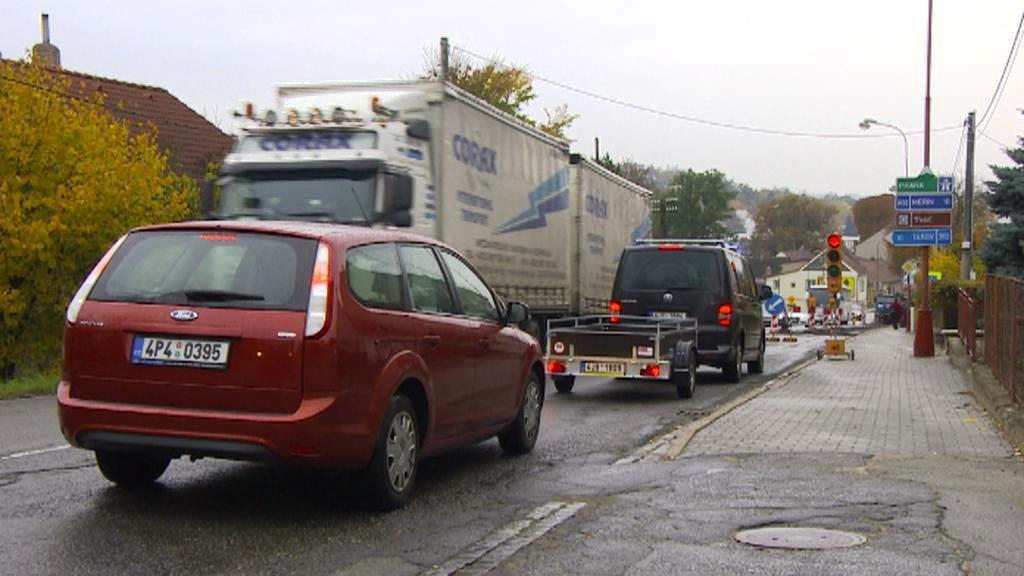 Dopravní kolaps ve Velkém Meziříčí