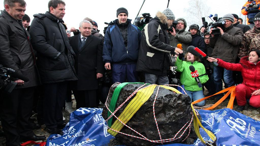 Kus meteoritu nalezený v ruském jezeře