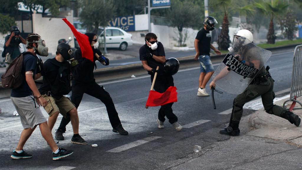 Potyčky v Řecku