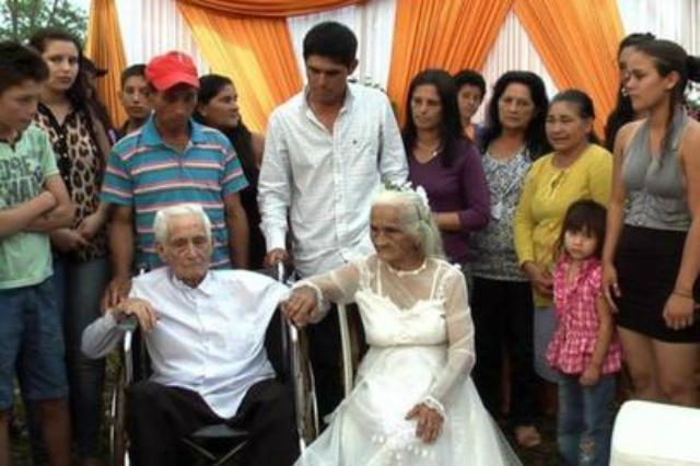 Nejstarší paraguayští novomanželé
