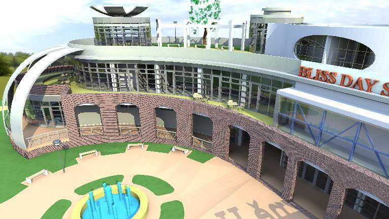 Vizualizace areálu Bliss Day Spa v Hodoníně