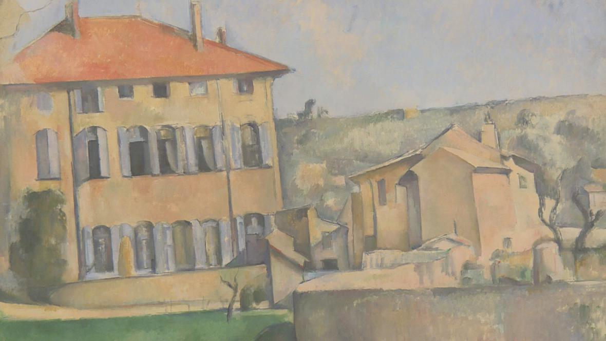 Paul Cézanne / Dům v Aix-en-Provence (detail)