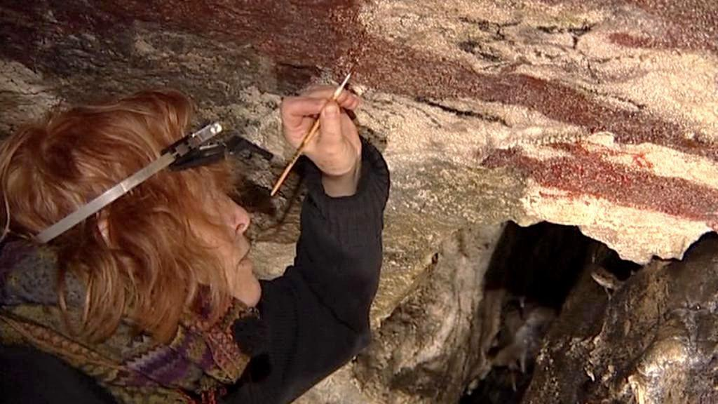 Záchrana malby v Jeskyni Na Špičáku