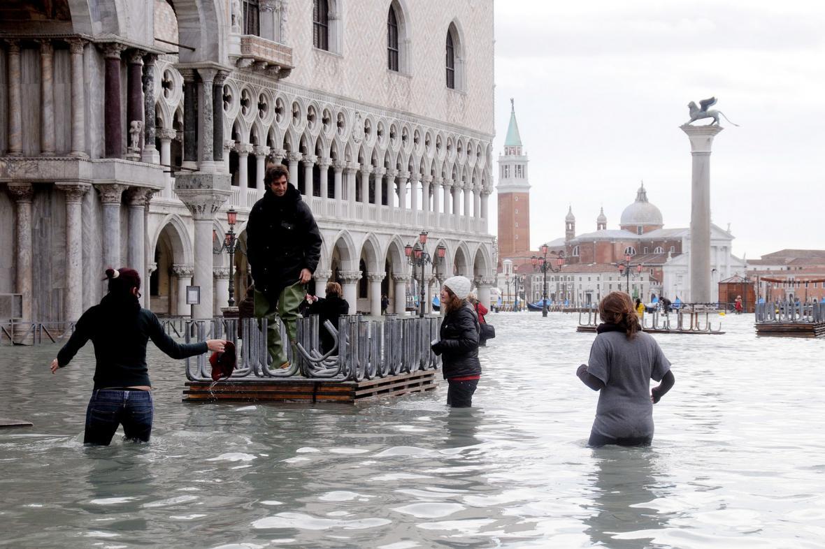 Náměstí sv. Marka pod vodou