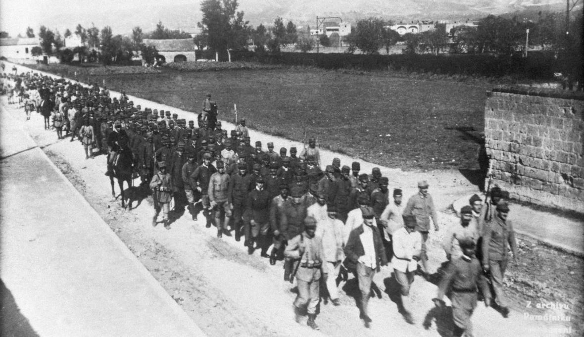 Čs. zajatci z tábora Santa Maria Capua Vettere v Itálii