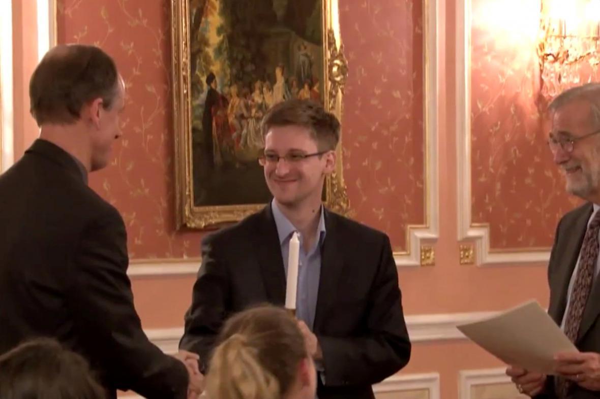 Snowden získal cenu Sama Adamse