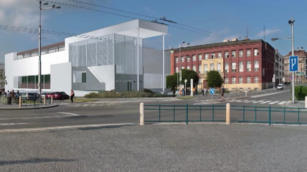 Vizualizace umístění galerie v Hradci Králové