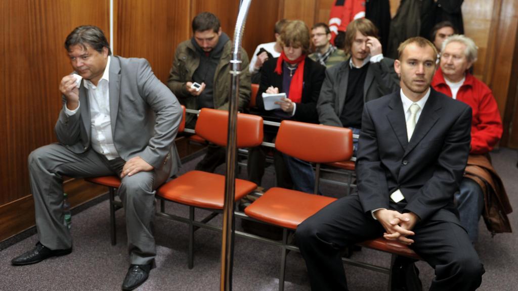 Karel Kapr (vlevo) a Petr Drobisz v soudní síni