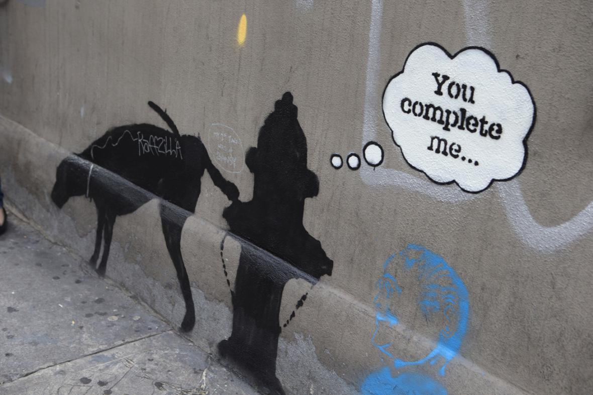 Jedno z Banksyho děl v New Yorku
