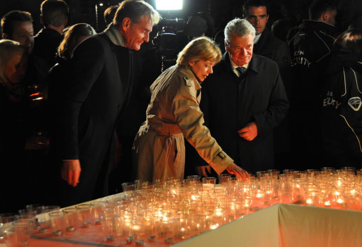Joachim Gauck s manželkou
