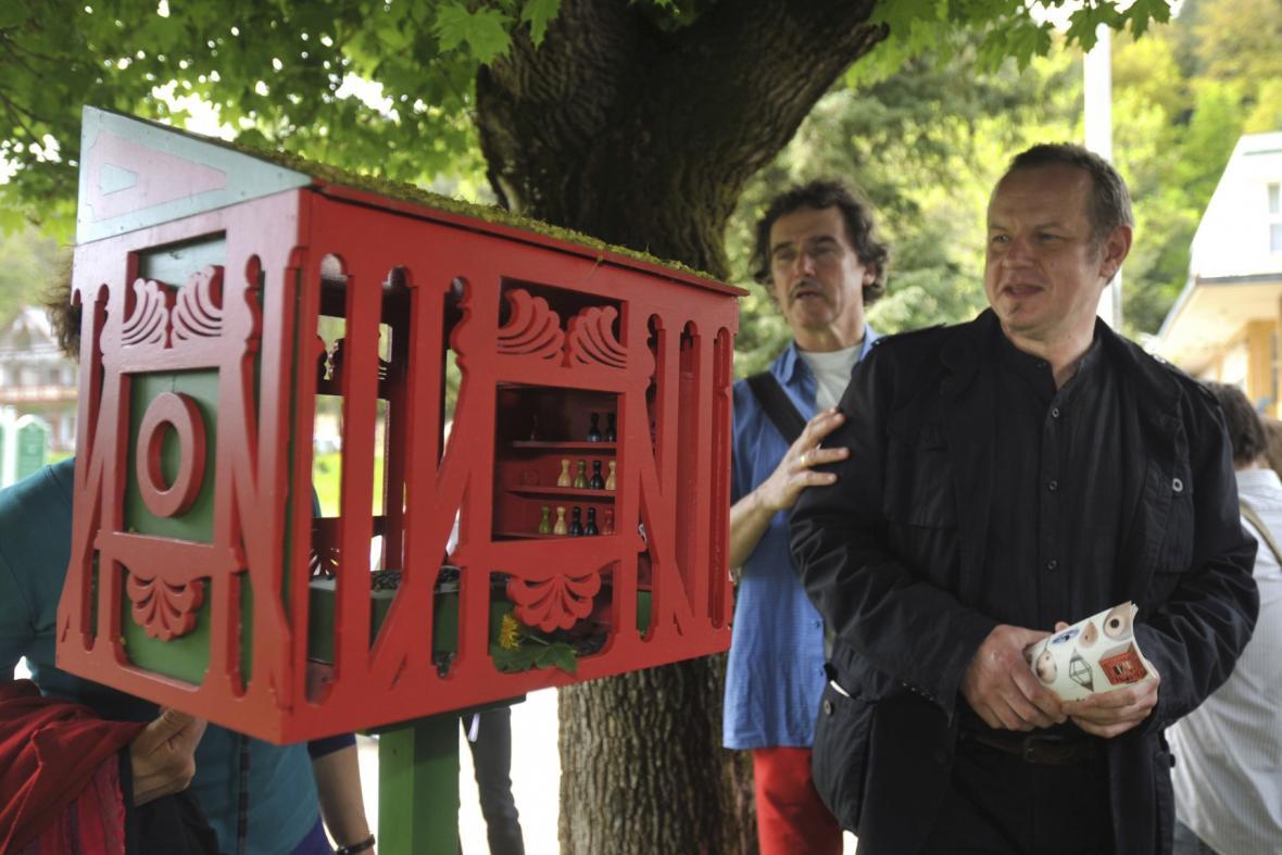 Netradiční ptačí budky v Luhačovicích