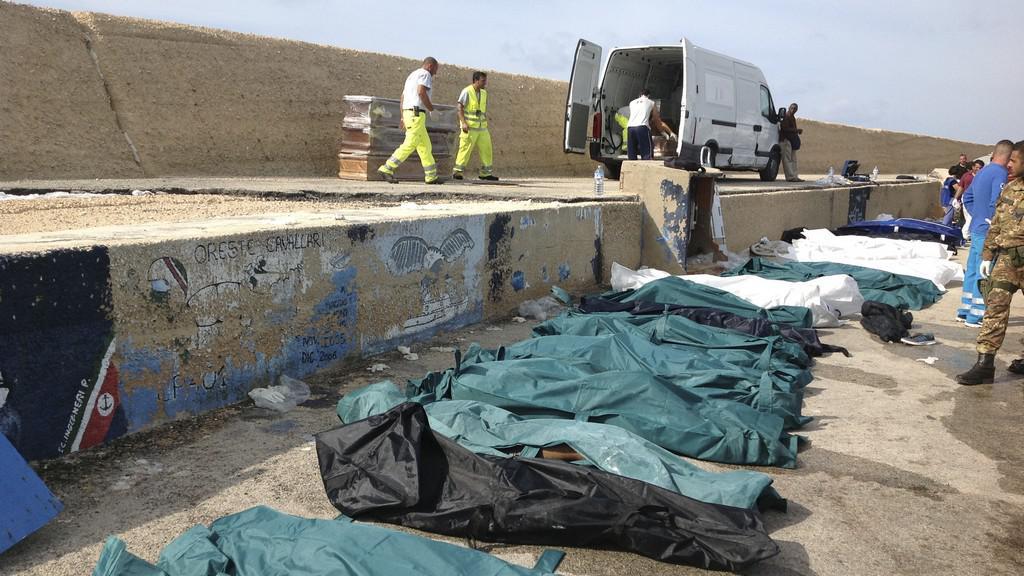 Mrtví imigranti u Lampedusy