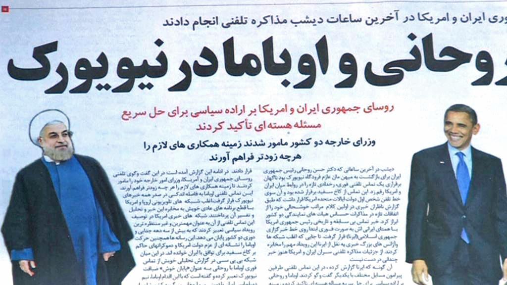 Íránský tisk o telefonickém hovoru prezidentů USA a Íránu
