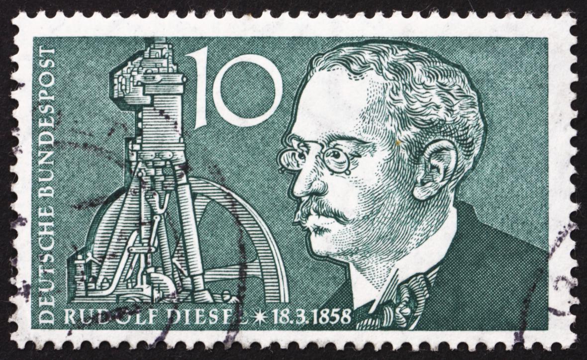 Rudolf Diesel na poštovní známce