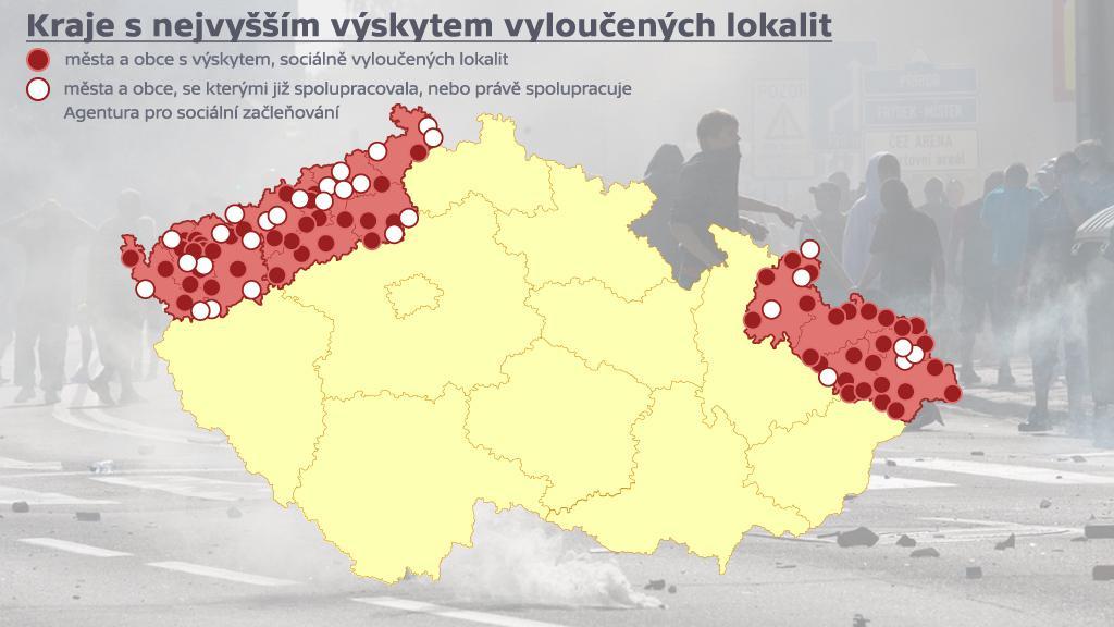 Vyloučené lokality - celá ČR