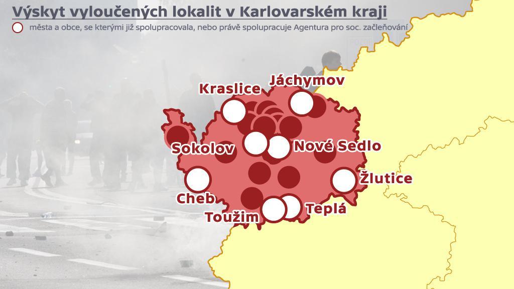 Vyloučené lokality - Karlovarský kraj