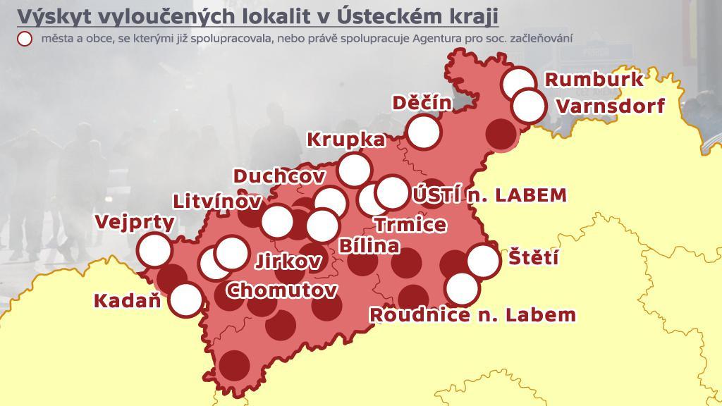Vyloučené lokality - Ústecký kraj