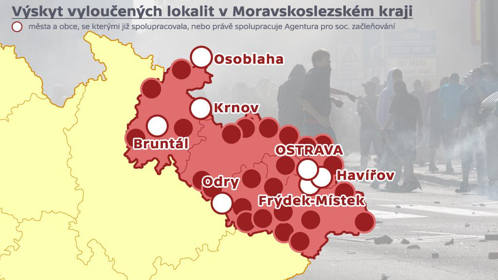 Vyloučené lokality - Moravskoslezský kraj
