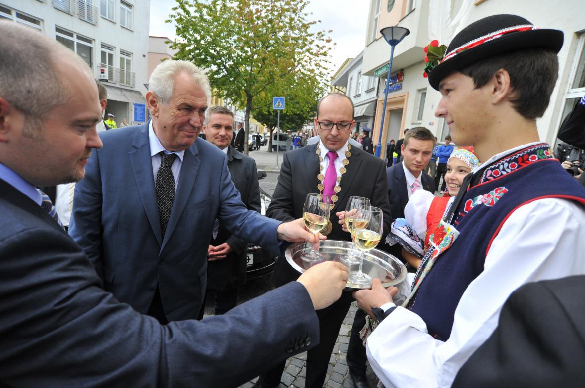 Prezident Miloš Zeman navštívil Kyjov