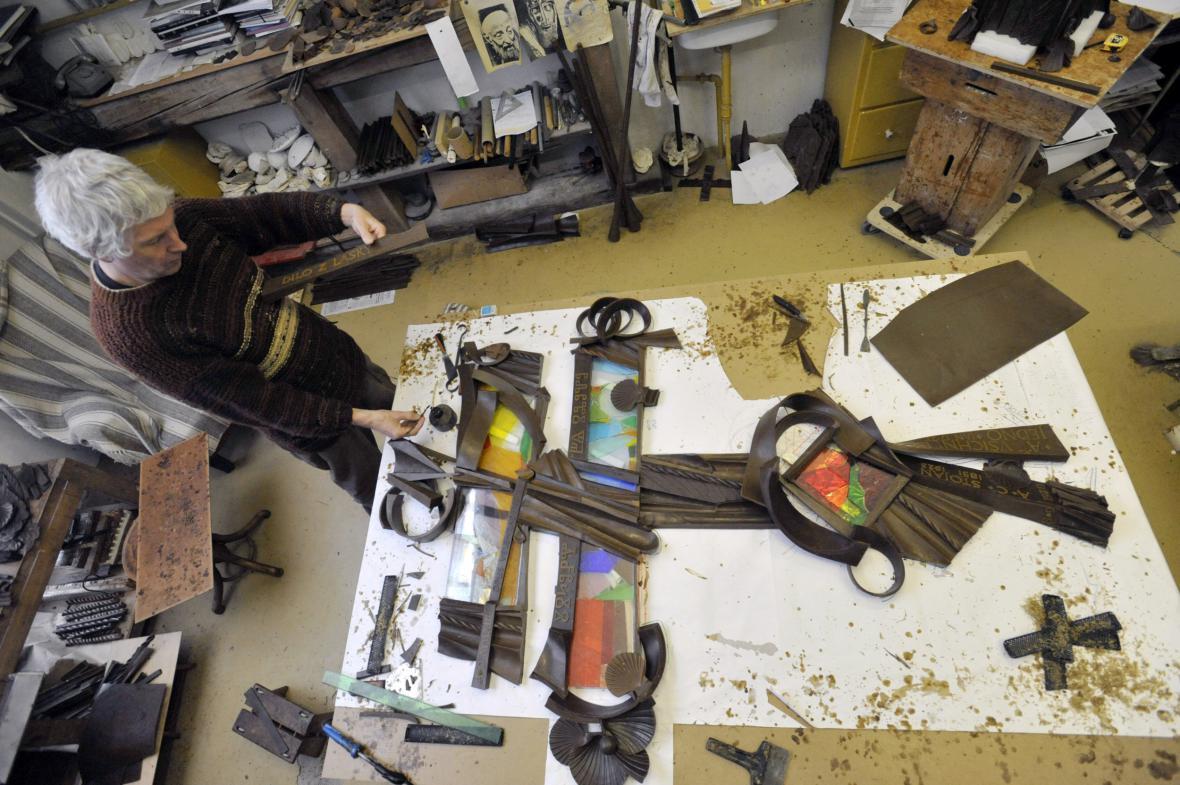 Umělec v ateliéru