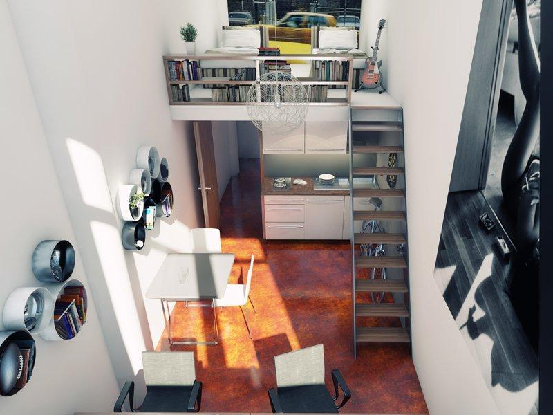 Vizualizace bytu ve 32. budově v baťovském areálu
