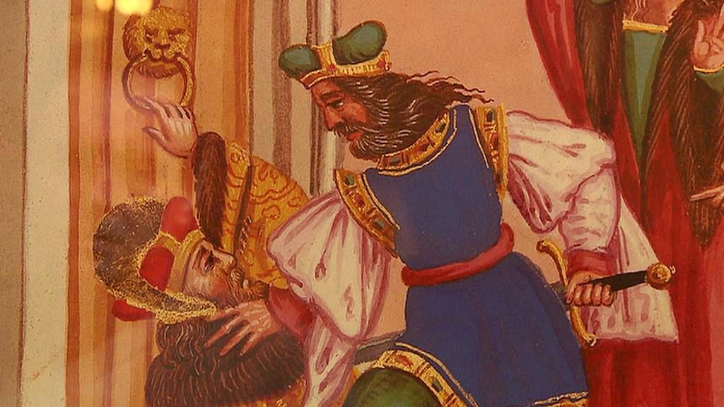 Zavraždění Václava od Matyáše Hutského