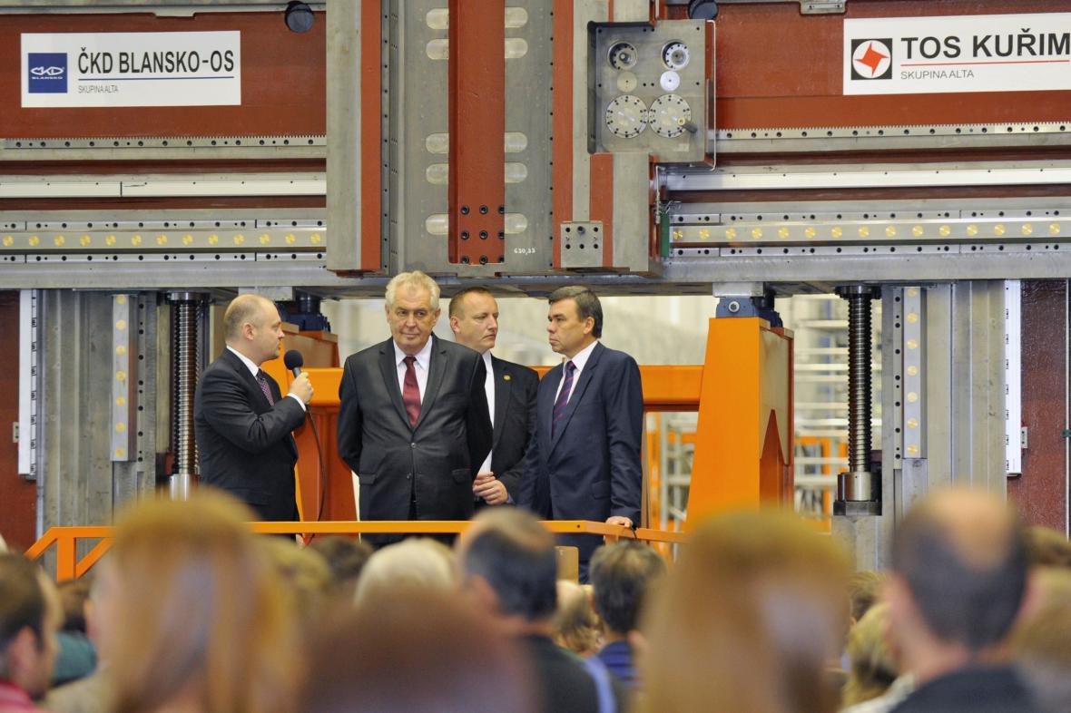 Miloš Zeman na návštěvě Kuřimi
