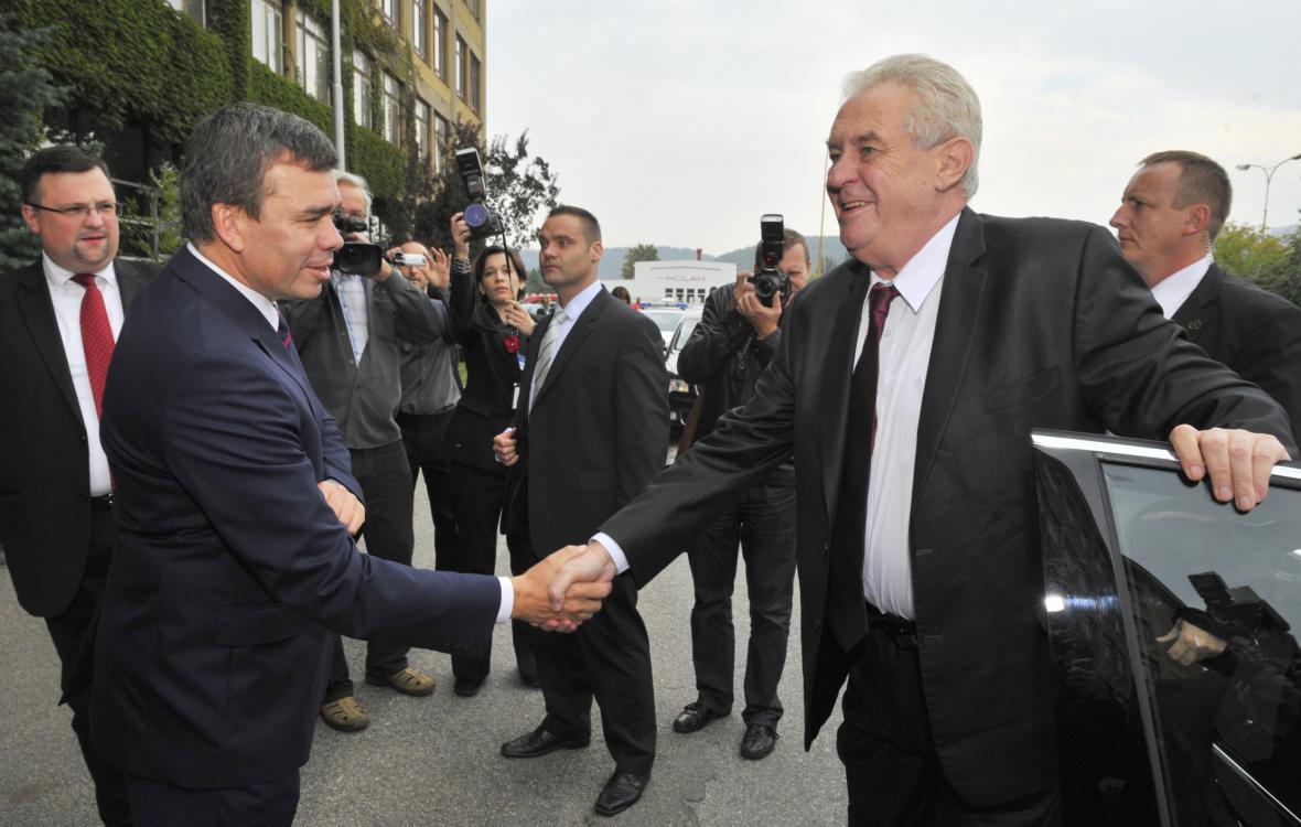 Miloš Zeman v Kuřimi