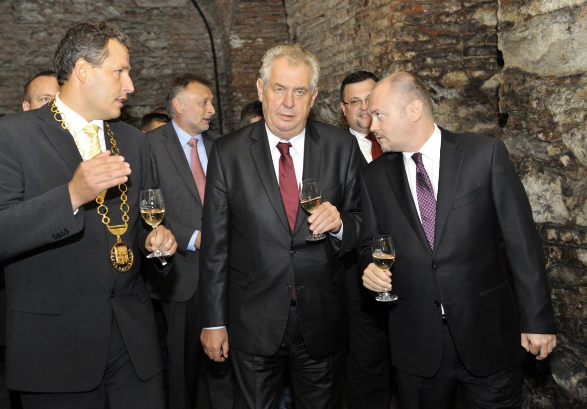 Miloš Zeman na návštěvě ve Znojmě