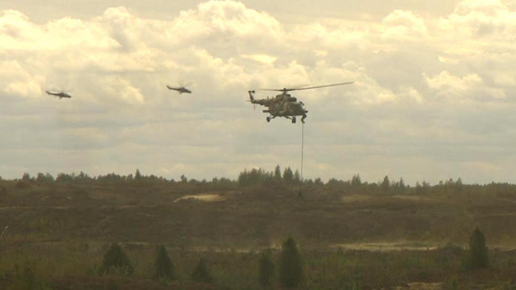 Společné cvičení ruské a běloruské armády