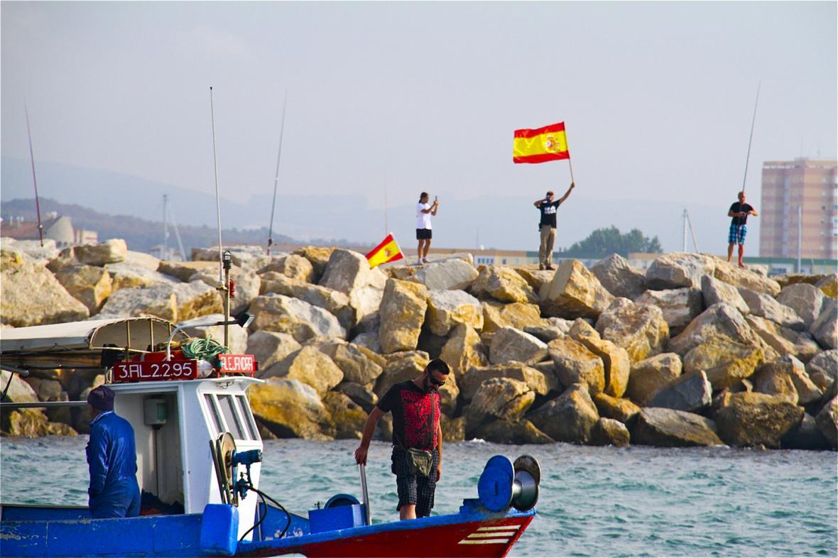 Protest španělských rybářů