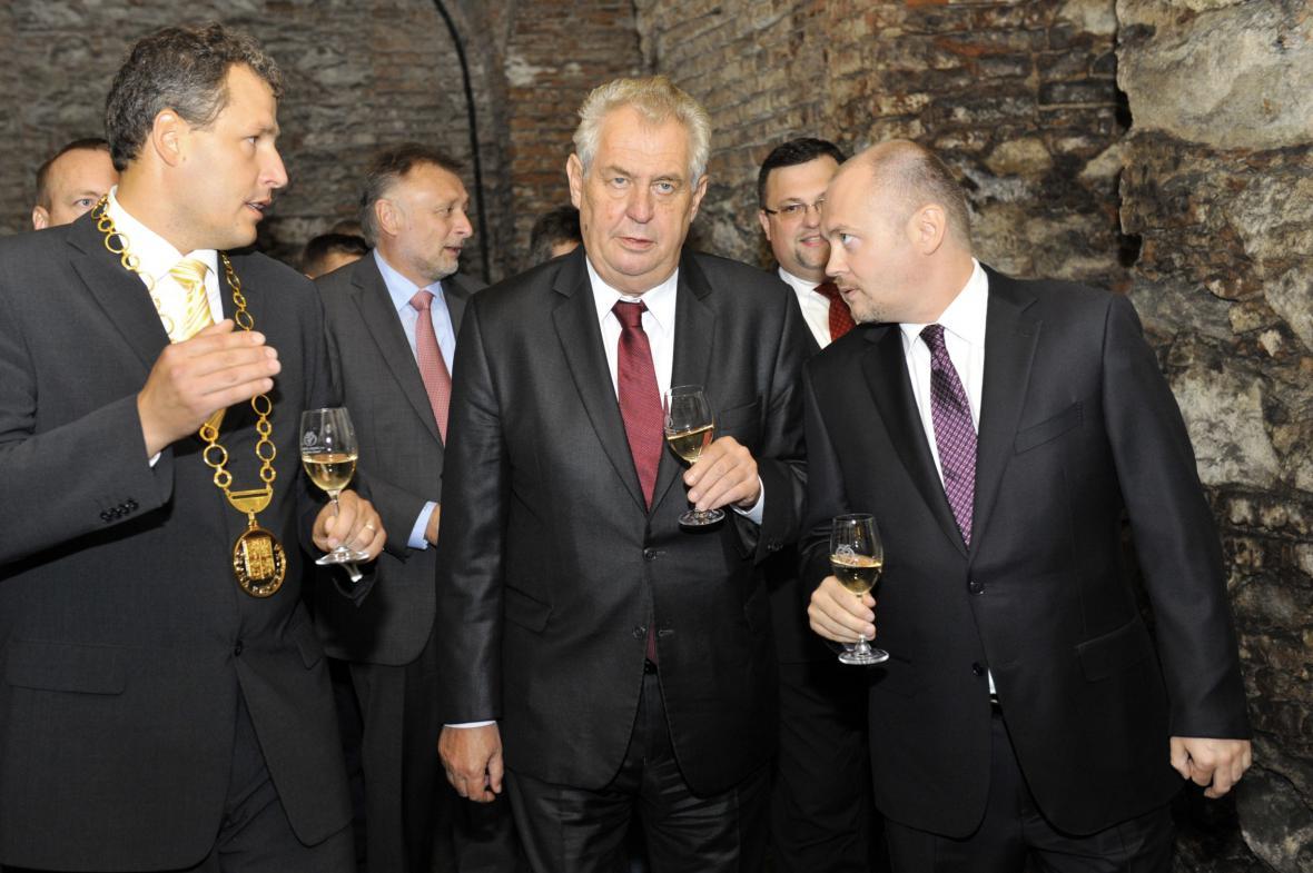 Miloš Zeman na návštěvě Znojma
