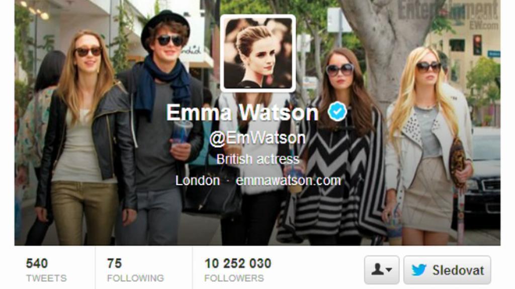 Twitterový účet Emmy Watson