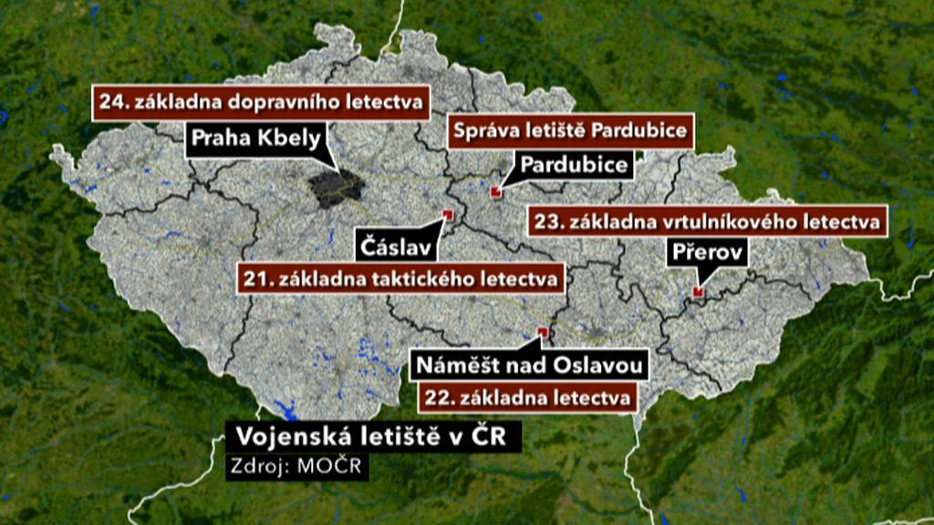 Vojenská letiště v ČR