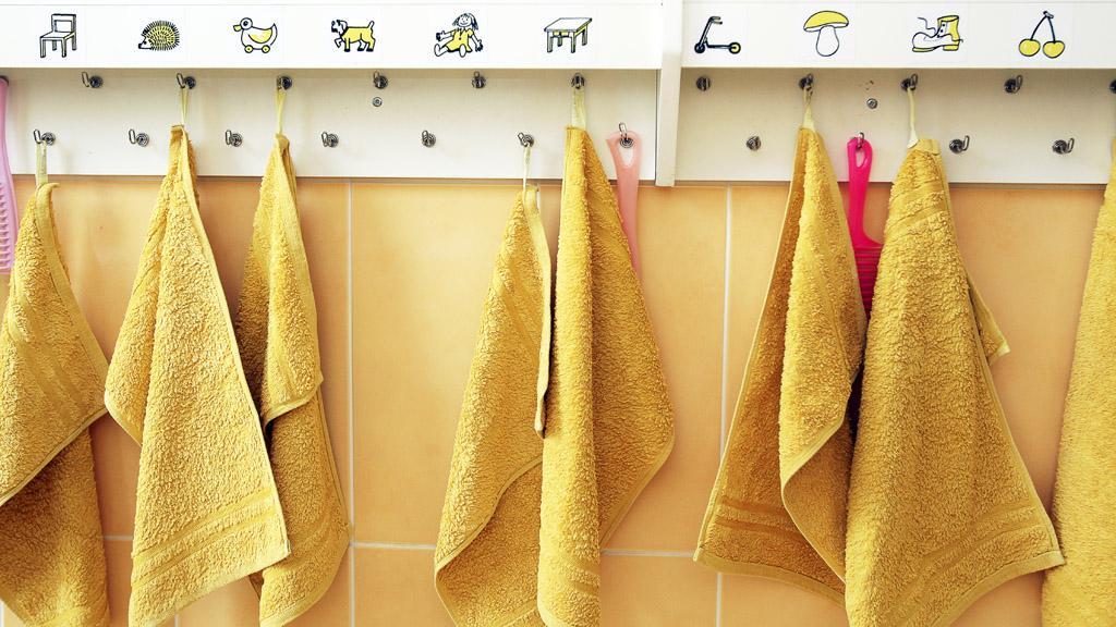 Dětské ručníky v mateřské škole