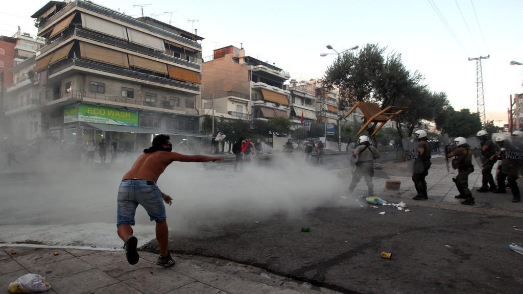 Demonstrace v Athénách