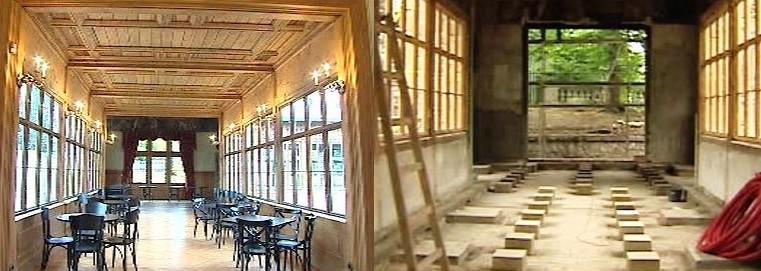 Pavilon Grébovka po a před rekonstrukcí