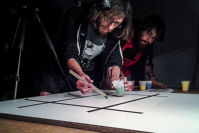 Animátoři Tomáš Hájek a Tomáš Holub