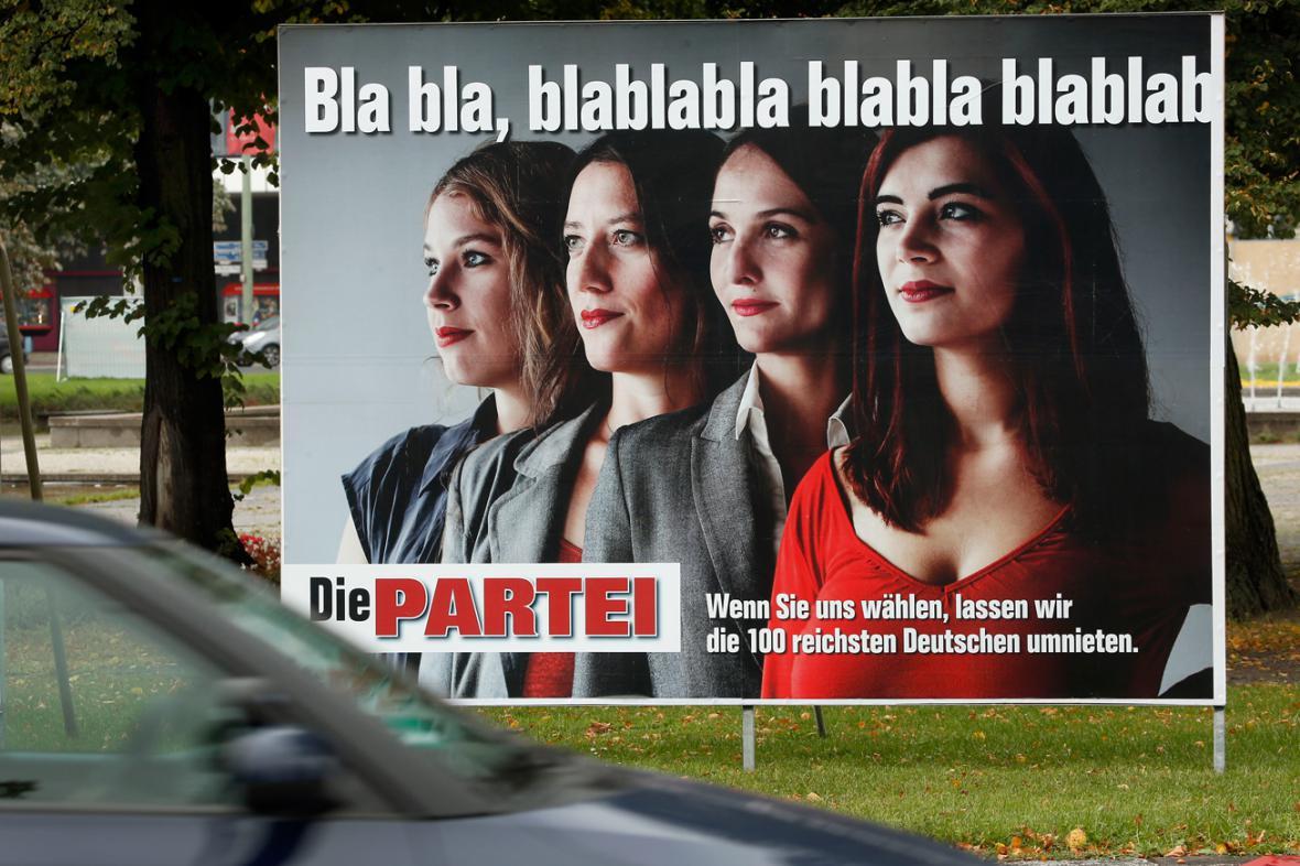 Kampaň recesistické strany Die Partei