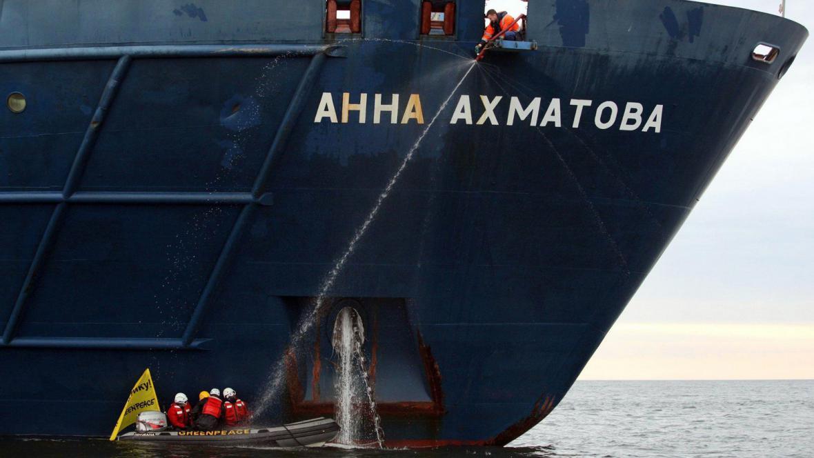 Blokáda ruské lodi v Arktidě