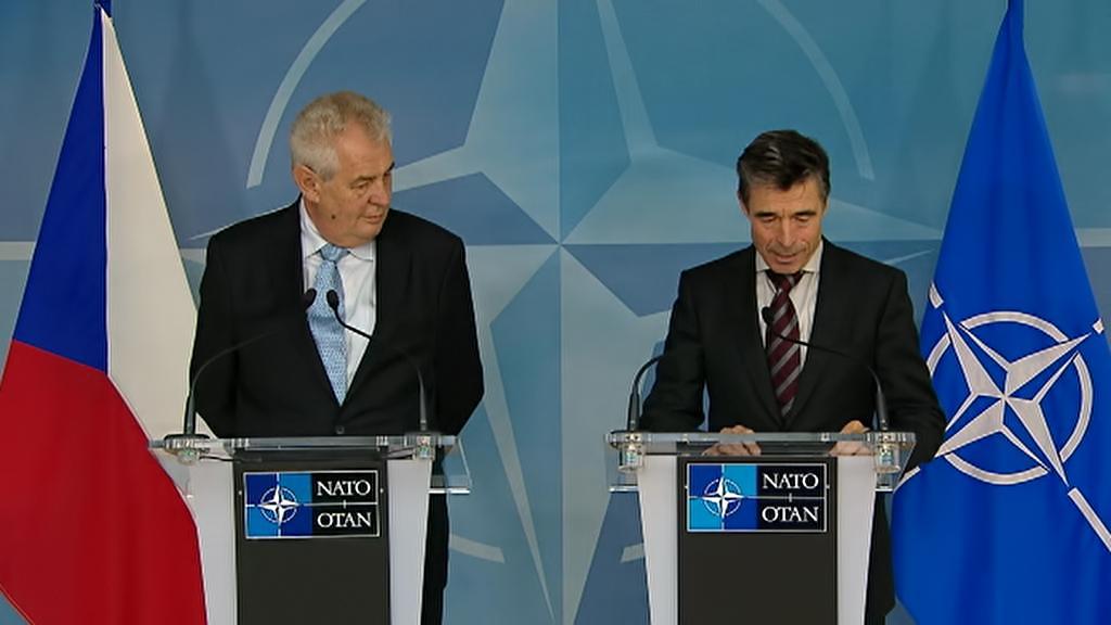 Miloš Zeman a Anders Fogh Rasmussen