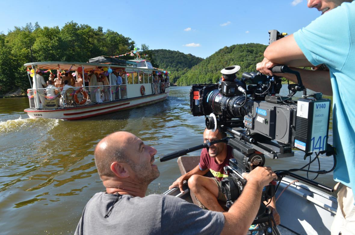 Natáčení na Brněnské přehradě
