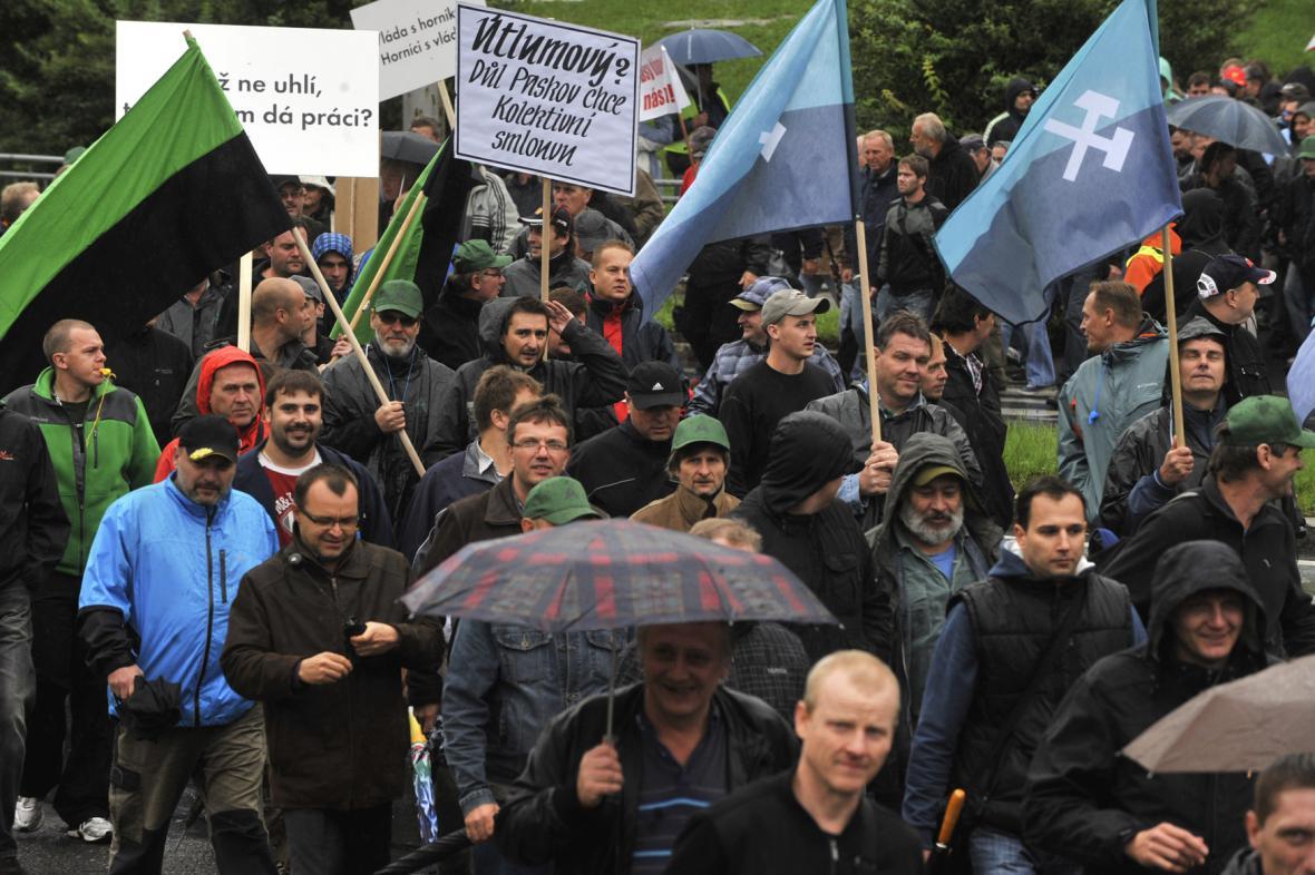 Protest horníků