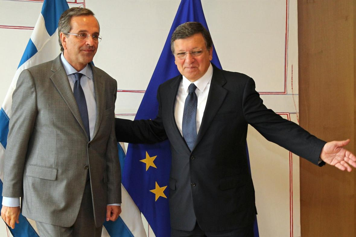 Antonis Samaras a José Manuel Barroso