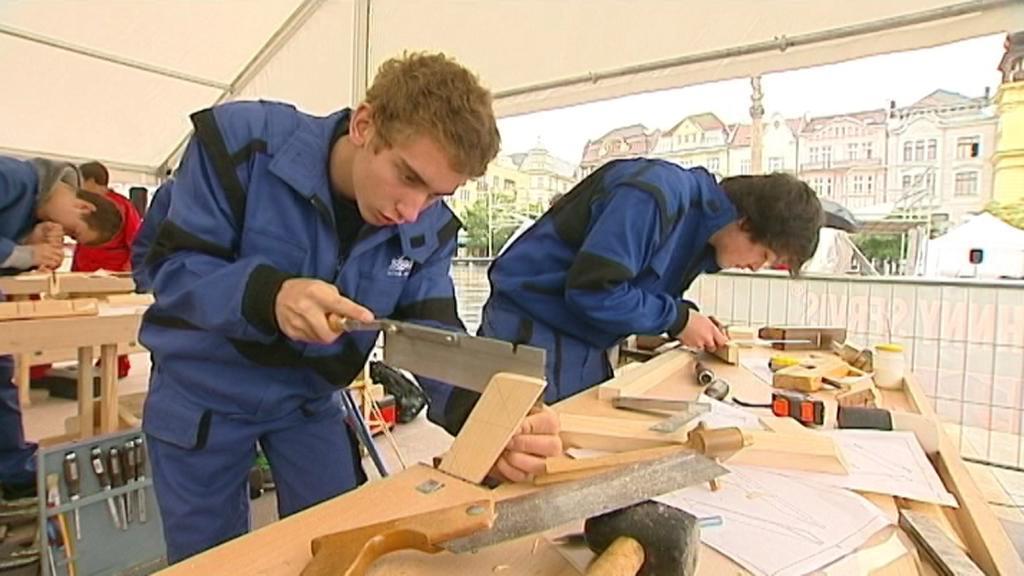 Učni odborných škol předvádějí svá řemesla